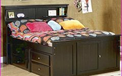 Full Size Storage Bed with Bookcases Headboard