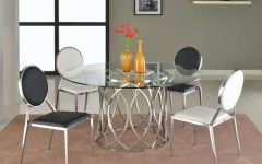 Glass Dining Tables with Metal Legs