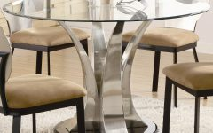 Modern Round Glass Top Dining Tables