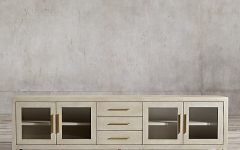 Grey Shagreen Media Console Tables