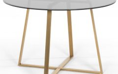 Smoked Oval Glasstop Dining Tables