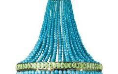Turquoise Chandelier Lights