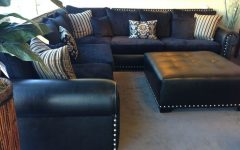 Gina Blue Leather Sofa Chairs