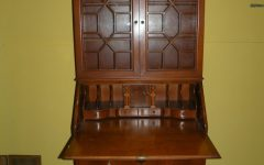 Antique Drop Front Secretary Desk with Bookcases