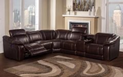 6 Piece Leather Sectional Sofas