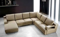 Beige Sectionals With Chaise