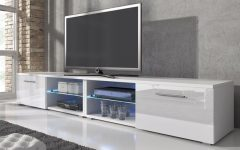 Long White Tv Stands
