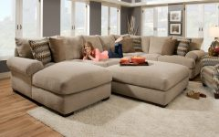 Wide Seat Sectional Sofas