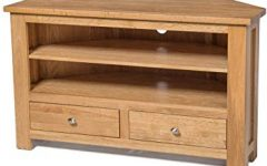 Corner Oak Tv Stands