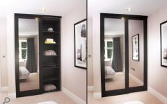 Dark Wood Wardrobes with Mirror
