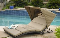 Chaise Lounge Chair with Canopy