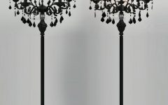 Black Chandelier Standing Lamps