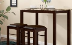 Penelope 3 Piece Counter Height Wood Dining Sets