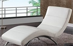 White Leather Chaises