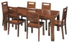 6 Seater Retangular Wood Contemporary Dining Tables