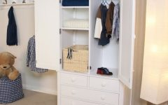 Double Wardrobes With Drawers And Shelves