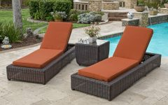 Grey Wicker Chaise Lounge Chairs