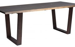 Dining Tables in Seared Oak with Brass Detail