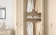 White Corner Wardrobes Units