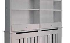 Radiator Cover with Bookcases Above