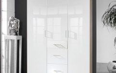 High Gloss White Wardrobes