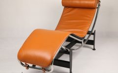 Brown Chaise Lounge Chair By Le Corbusier
