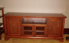 Wooden Tv Stands with Glass Doors