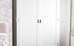 Double Rail White Wardrobes