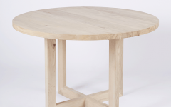 Solid Wood Circular Dining Tables White