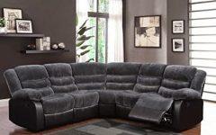 Noa Sectional Sofas with Ottoman Gray
