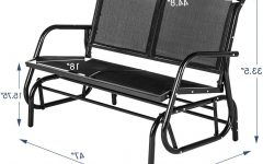 Outdoor Swing Glider Chairs with Powder Coated Steel Frame