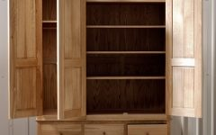 Oak Wardrobes With Drawers And Shelves
