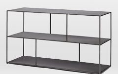 Gunmetal Media Console Tables