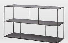 Gunmetal Media Console Tables