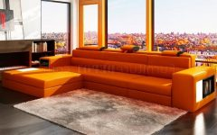 Orange Sectional Sofas