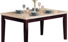 Walnut and Antique White Finish Contemporary Country Dining Tables