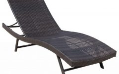 Eliana Outdoor Brown Wicker Chaise Lounge Chairs