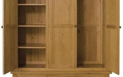 Triple Oak Wardrobes