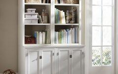 White Bookcases With Cupboard