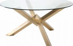 Dining Tables with Brushed Gold Stainless Finish
