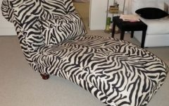 Zebra Print Chaise Lounge Chairs