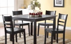 Transitional Antique Walnut Square Casual Dining Tables