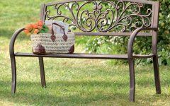 Blooming Iron Garden Benches