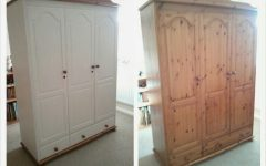 White And Pine Wardrobes