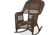 Resin Wicker Patio Rocking Chairs