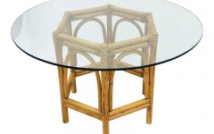 Retro Round Glasstop Dining Tables