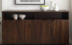 """Electra 46"""" Wide 4 Drawer Acacia Wood Buffet Tables"""