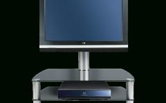 Swivel Black Glass Tv Stands