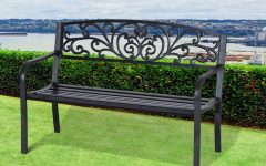 Strasburg Blossoming Decorative Iron Garden Benches