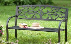 Tree of Life Iron Garden Benches